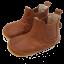 Ghetuțe barefoot de interior din piele