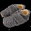 Pantofi din piele și blăniță