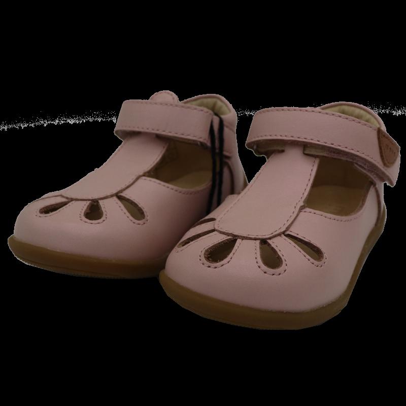 Sandale roz pal din piele
