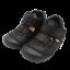 Sandale negre ușoare și flexibile