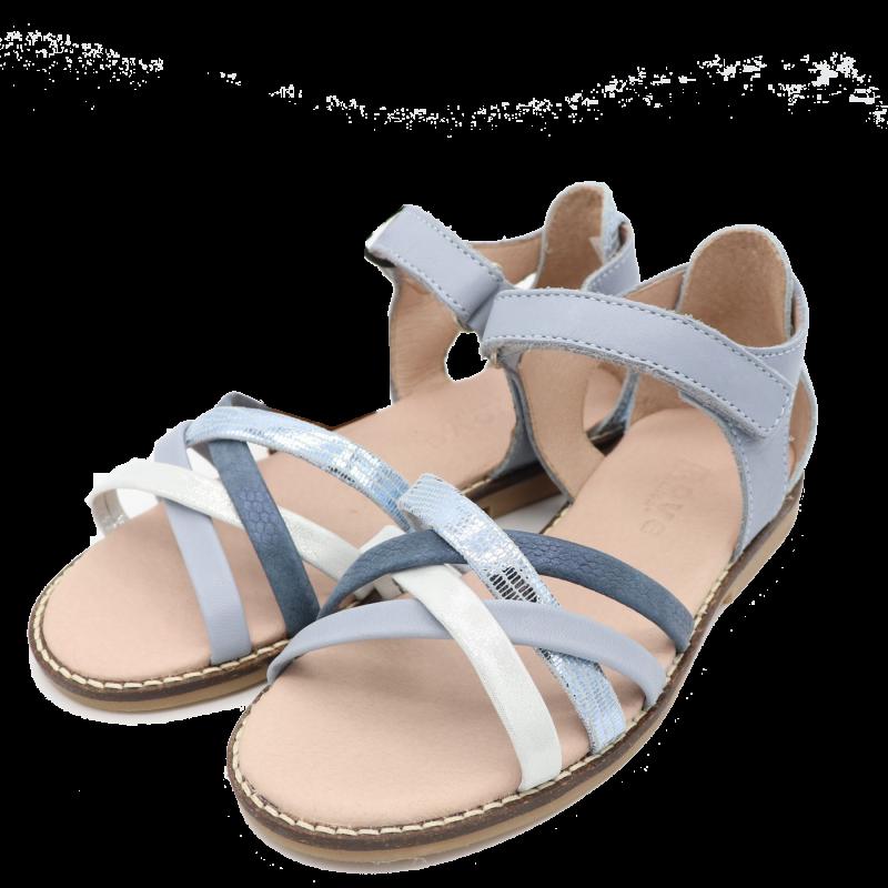 Sandale albastre cu barete