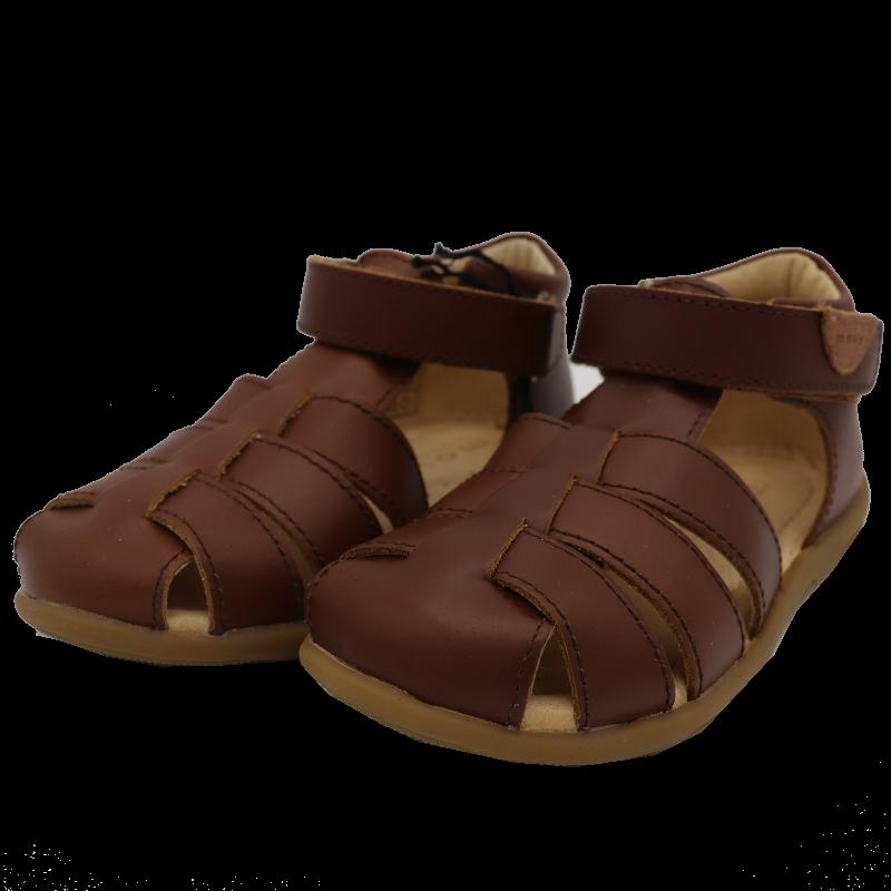 Sandale maro din piele