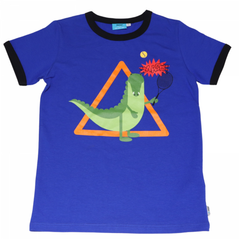Tricou albastru cu imprimeu aligator