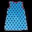Tunică turcoaz cu imprimeu lăbuțe