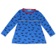 Tunică lungă albastră cu imprimeu furnici