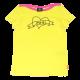 Tricou galben lămâie cu decolteu bărcuță