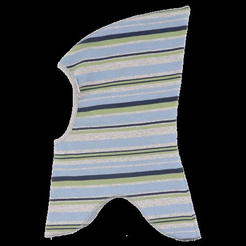 Cagulă de elf cu dungi gri, albastre și verzi mikk-line