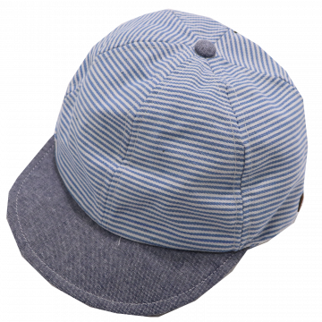 Șapcă bleu/ albastră cu dungi și SPF30