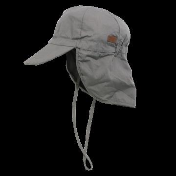 Șapcă gri din bumbac cu SPF30