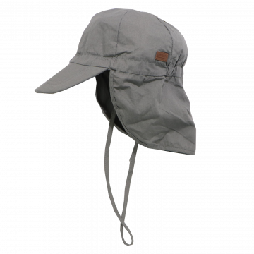 Șapcă gri din bumbac cu SPF30 Melton 47cm (12-18 luni) și 53cm (4-6 ani)