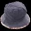 Pălăriuță cu două fețe - tip denim și imprimeu roz