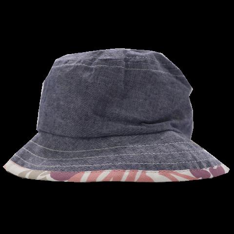 Pălăriuță cu două fețe - tip denim și imprimeu roz Melton 47cm (12-18 luni) și 49cm (18-24 luni)