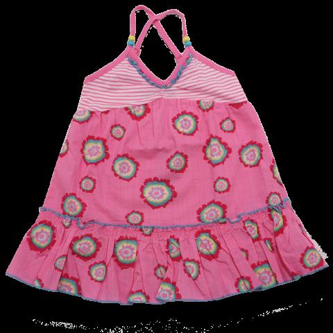 Rochiță roz cu dungi și floricele Mexx  74cm