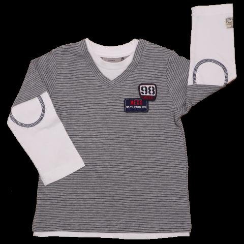 Bluză cu mânecă lungă și imprimeu