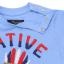 Tricou albastru cu imprimeu