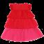 Rochiță în nuanțe de roșu și roz cu volănașe
