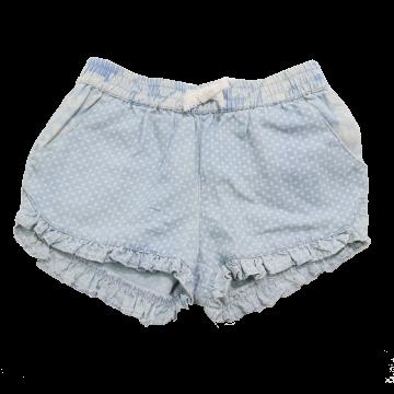 Pantaloni scurți bufanți bleu