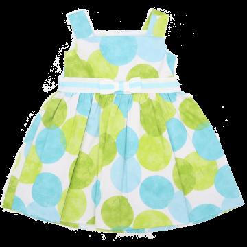 Rochie cu cercuri verzi și albastre