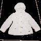 Jachetă albă cu glugă detașabilă