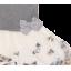 Rochie gri cu tul alb și broderie