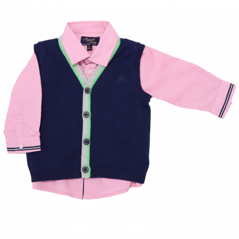 Set cămașă cu vestă