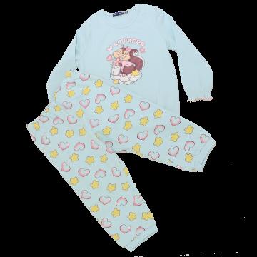 Pijamale vernil cu imprimeu