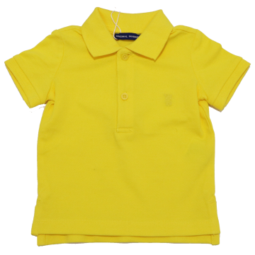 Tricou polo galben superb
