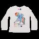 Bluză albă cu imprimeu ponei