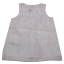 Rochiță albă din voal cu floricele aplicate