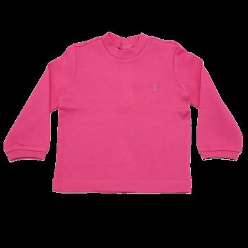 Bluză roz simplă cu ursuleț mic cusut Original Marines 6-9 luni (74cm)