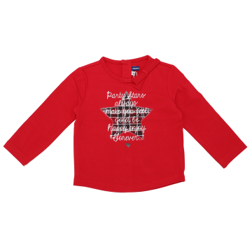 Bluză roșie cu imprimeu steluță