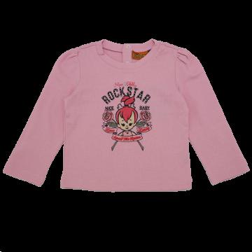 Bluză roz cu imprimeu Pebbles