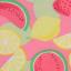 Colanți trei sferturi roz cu imprimeu fructe