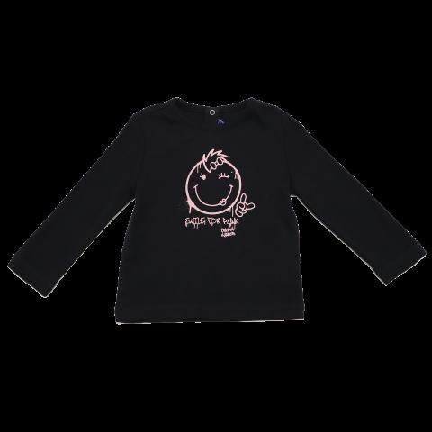 Bluză neagră cu imprimeu roz Original Marines 12-18 luni (86cm)