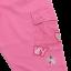 Pantaloni roz cu buzunare laterale din dantelă