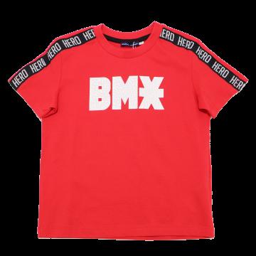 Tricou roșu BMX 3-4 ani (104cm)