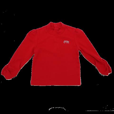 Bluză roșie cu elastic la mâneci