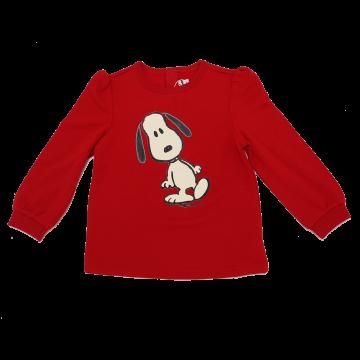 Bluză roșie cu imprimeu Peanut Snoopy
