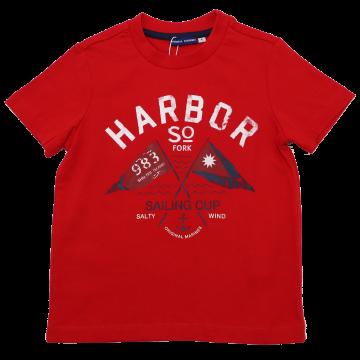Tricou roșu Sailing Cup Original Marines 3-4 ani (104cm)