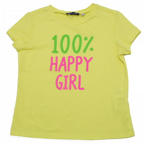 Tricou galben 100% Happy Girl Original Marines 3-4 ani (104cm)
