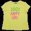 Tricou galben 100% Happy Girl