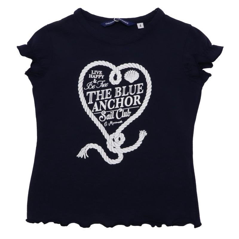 Tricou bleumarin cu imprimeu Sail Club