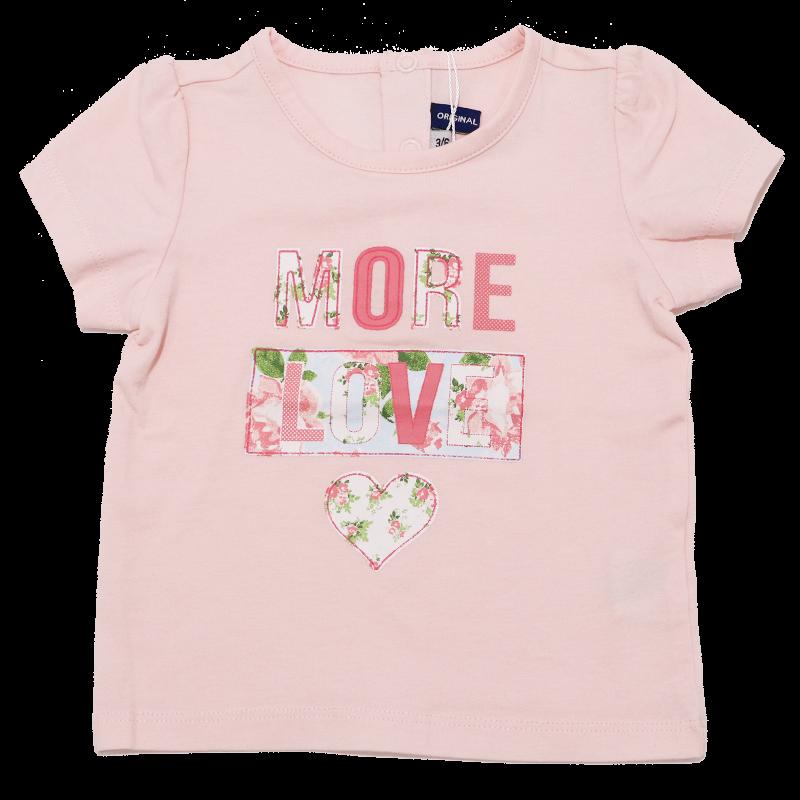 Tricou roz cu imprimeu More Love