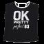 Tricou negru OK Pretty perfect 83