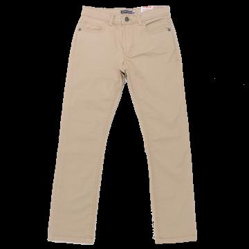 Pantaloni bej ușor elastici