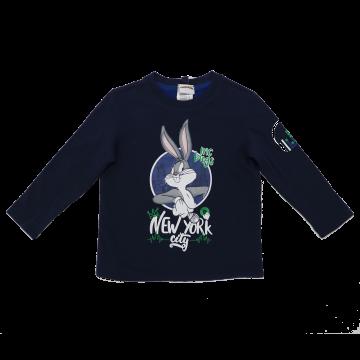 Bluză reversibilă cu imprimeu Bugs Bunny/ Taz