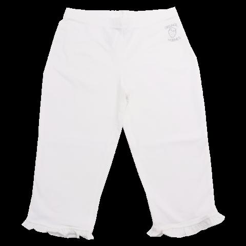 Colanți albi trei sferturi cu volănașe Original Marines 9-10 ani (140cm)