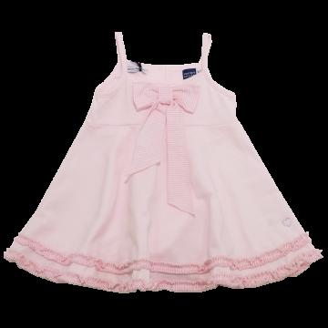 Rochiță roz cu fundiță și volănașe