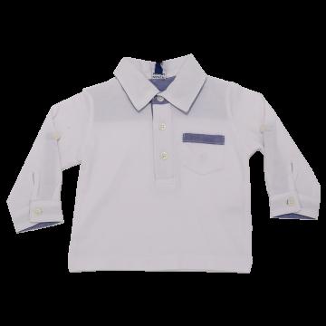 Bluză polo cu măneci reglabile