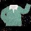 Bluză retro cu mânecă lungă și imprimeu floral